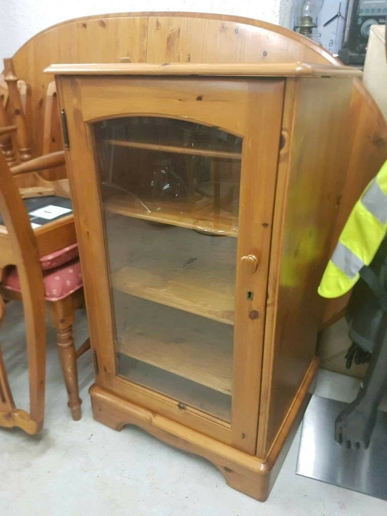 Solid Wood Display Cabinet/ Stereo Stand | In Okehampton With Sherbourne Oak Corner Tv Stands (View 12 of 20)