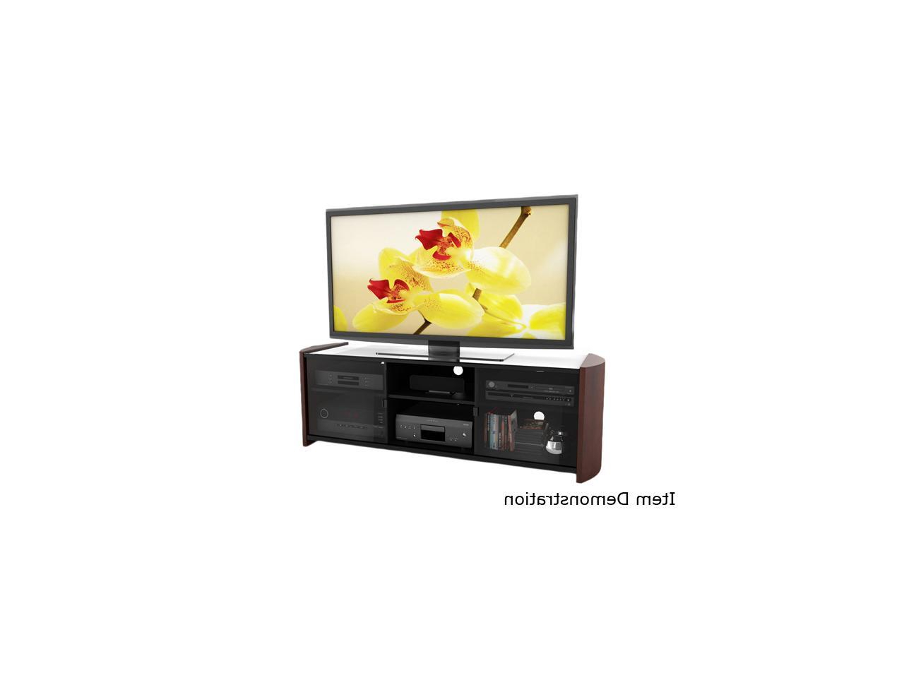 """Sonax Ml 3609 37"""" – 70"""" Milan 67"""" Tv Bench With Real Wood For Milan Glass Tv Stands (View 7 of 20)"""