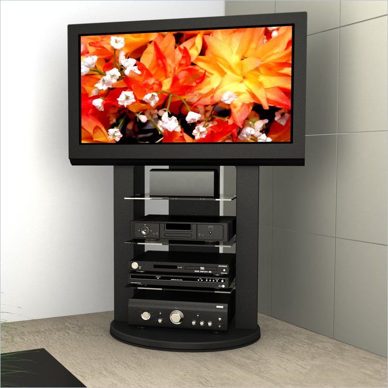 Sonax Zurich Black Swivel Base Mounted 37 52 S Tv Stand Within Tv Stands Fwith Tv Mount Silver/black (View 8 of 20)