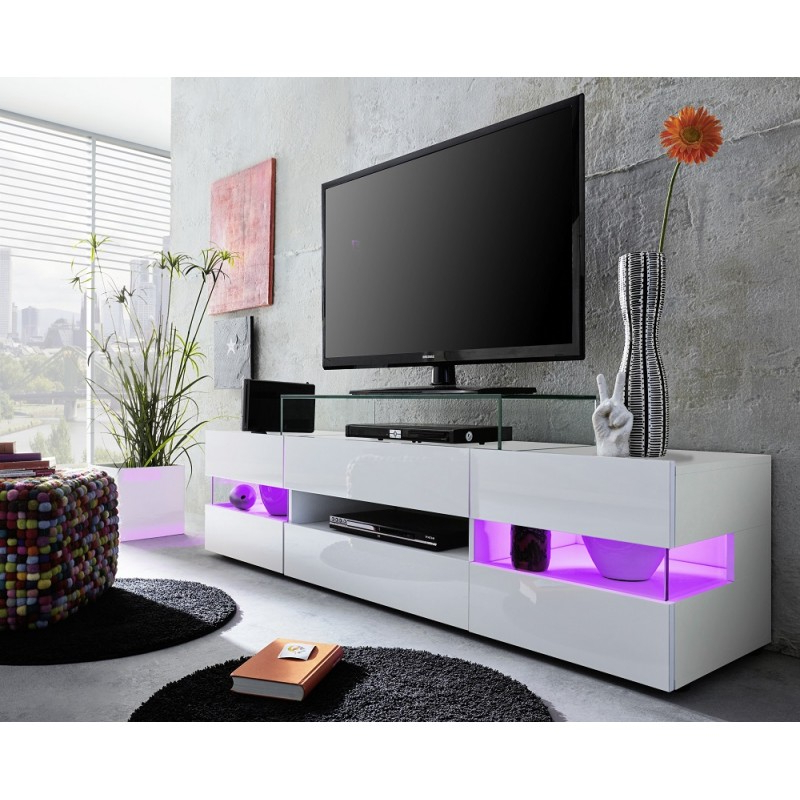 Sonic – Tv Stand With Optional Led Lights – Tv Stands Throughout Tv Stands With Led Lights In Multiple Finishes (View 17 of 20)