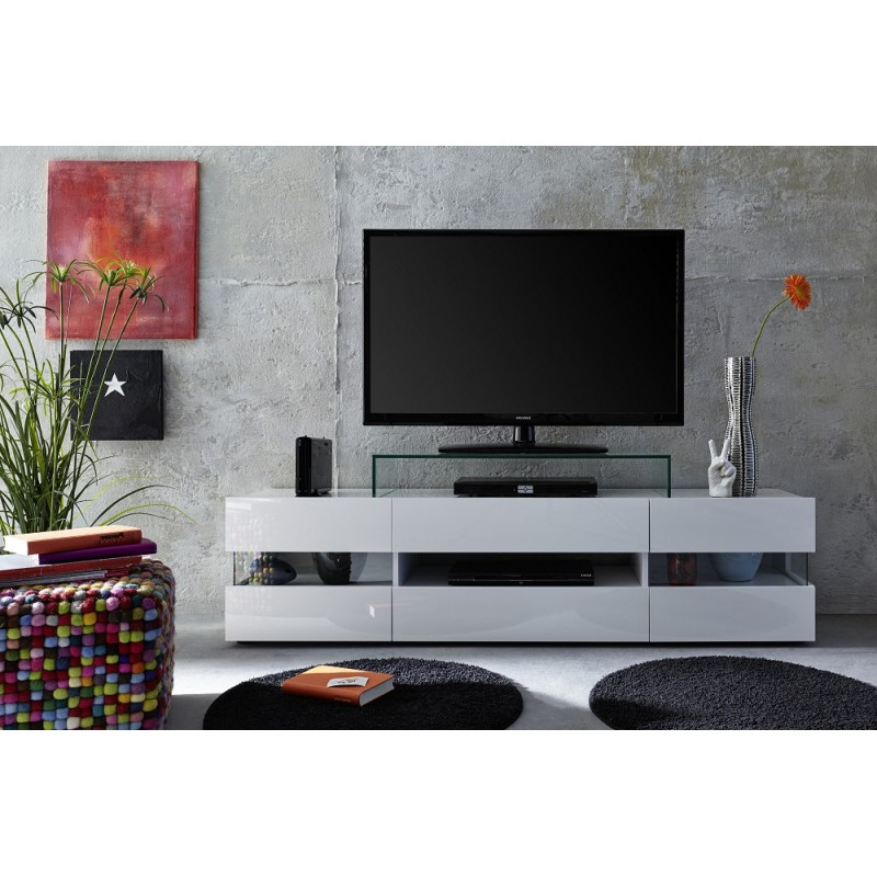 Sonic – Tv Stand With Optional Led Lights – Tv Stands With Regard To Tv Stands With Led Lights In Multiple Finishes (View 14 of 20)