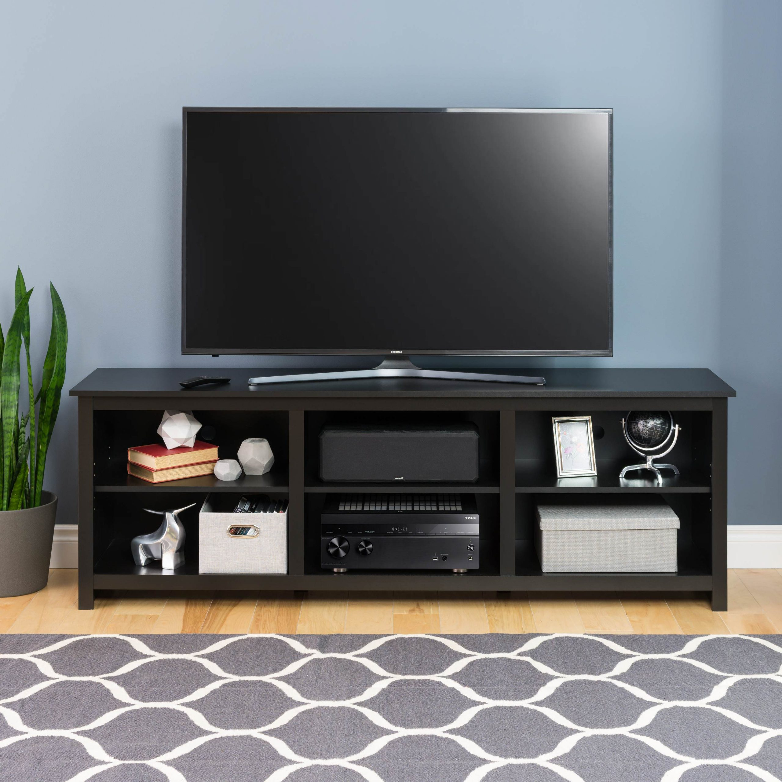 Sonoma 72 Inch Tv Stand, Black – Walmart – Walmart For Edgeware Black Tv Stands (View 13 of 20)