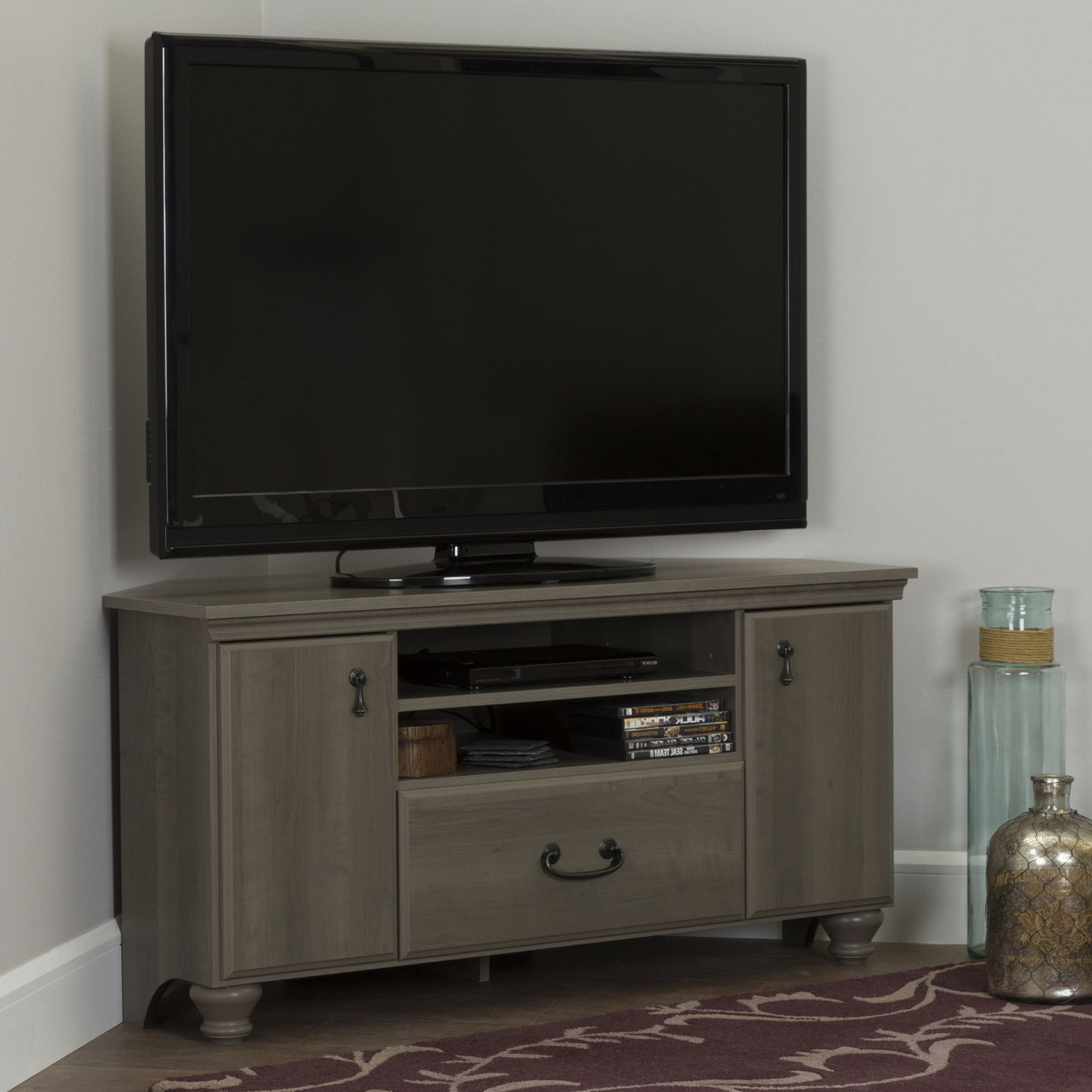 """South Shore Noble Corner Tv Stand For Tv's Up To 60 Inches With Camden Corner Tv Stands For Tvs Up To 60"""" (View 6 of 20)"""