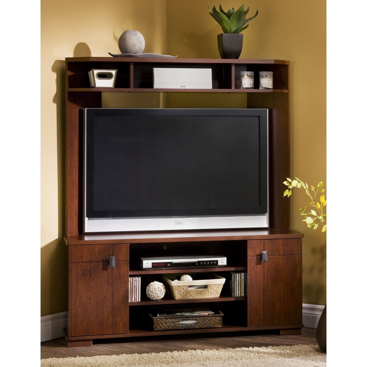 """South Shore Vertex Corner 48"""" Tv Stand In Classic Cherry In Wood Corner Storage Console Tv Stands For Tvs Up To 55"""" White (View 4 of 20)"""