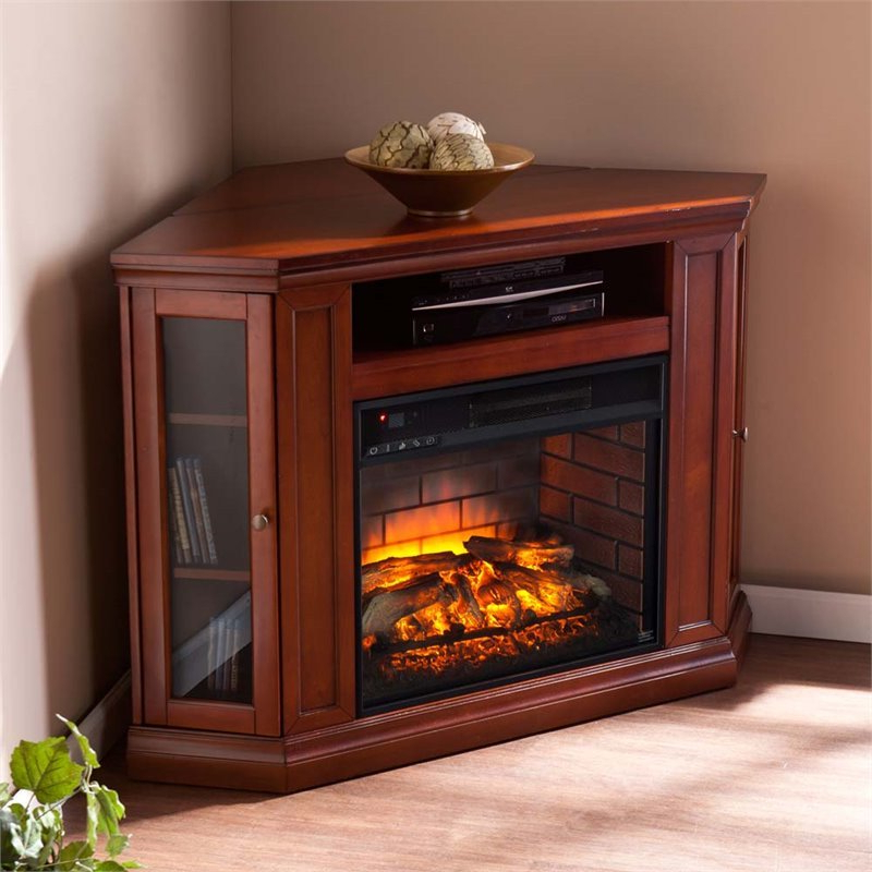 Southern Enterprises Claremont Corner Fireplace Tv Stand In Compton Ivory Corner Tv Stands (View 16 of 20)
