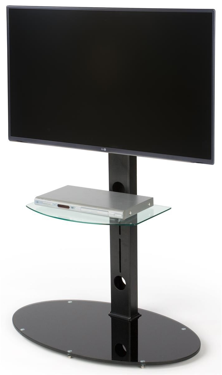 Stand For 70 Inch Tv | Adjustable Glass Shelf | Tv Stand In Glass Shelf With Tv Stands (View 17 of 20)