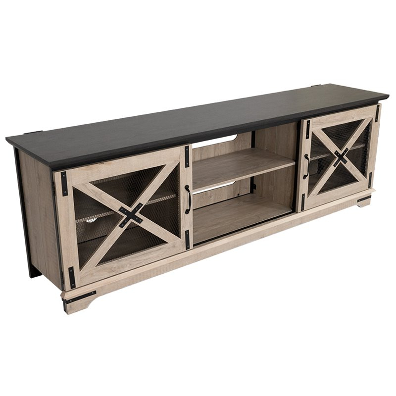 """Stanely Coastal Furniture Tv Stands, Tv Stand With Hutch Pertaining To Del Mar 50"""" Corner Tv Stands White And Gray (View 18 of 20)"""