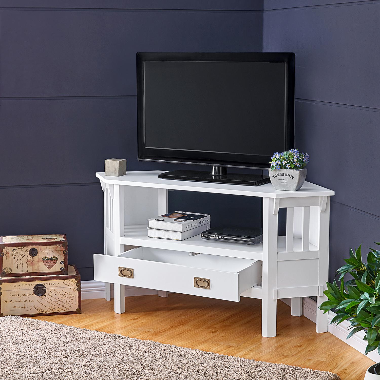 Sullivan White Corner Tv Stand – Pier1 In Hex Corner Tv Stands (View 4 of 20)