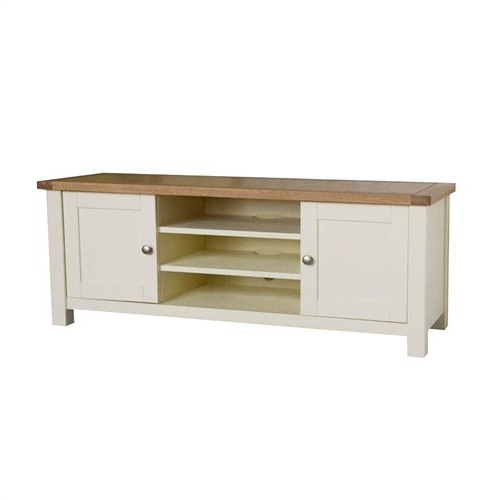 """Sussex Painted Widescreen Tv Unit – Up To 60"""" (a268) With Regarding Cotswold Widescreen Tv Unit Stands (View 5 of 20)"""
