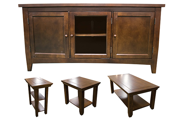 Tables & Stands – Rebel's Furniture Llc Pertaining To Emmett Sonoma Tv Stands With Coffee Table With Metal Frame (View 8 of 20)