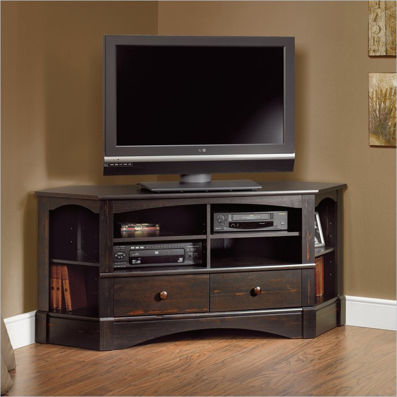 Tall Corner Tv Stand: Designs And Images – Homesfeed With Regard To Corner Entertainment Tv Stands (View 16 of 20)