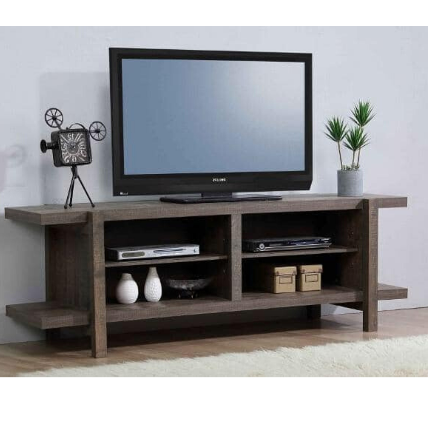 """Tammy 65'' Tv Stand For Tvs Up To 70'', Rustic Mdf Wood Tv In Neilsen Tv Stands For Tvs Up To 65"""" (View 8 of 20)"""