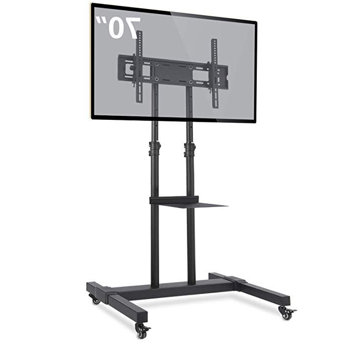 Tavr Mobile Tv Stand Rolling Tv Cart Floor Stand With With Fitueyes Rolling Tv Cart For Living Room (View 1 of 20)