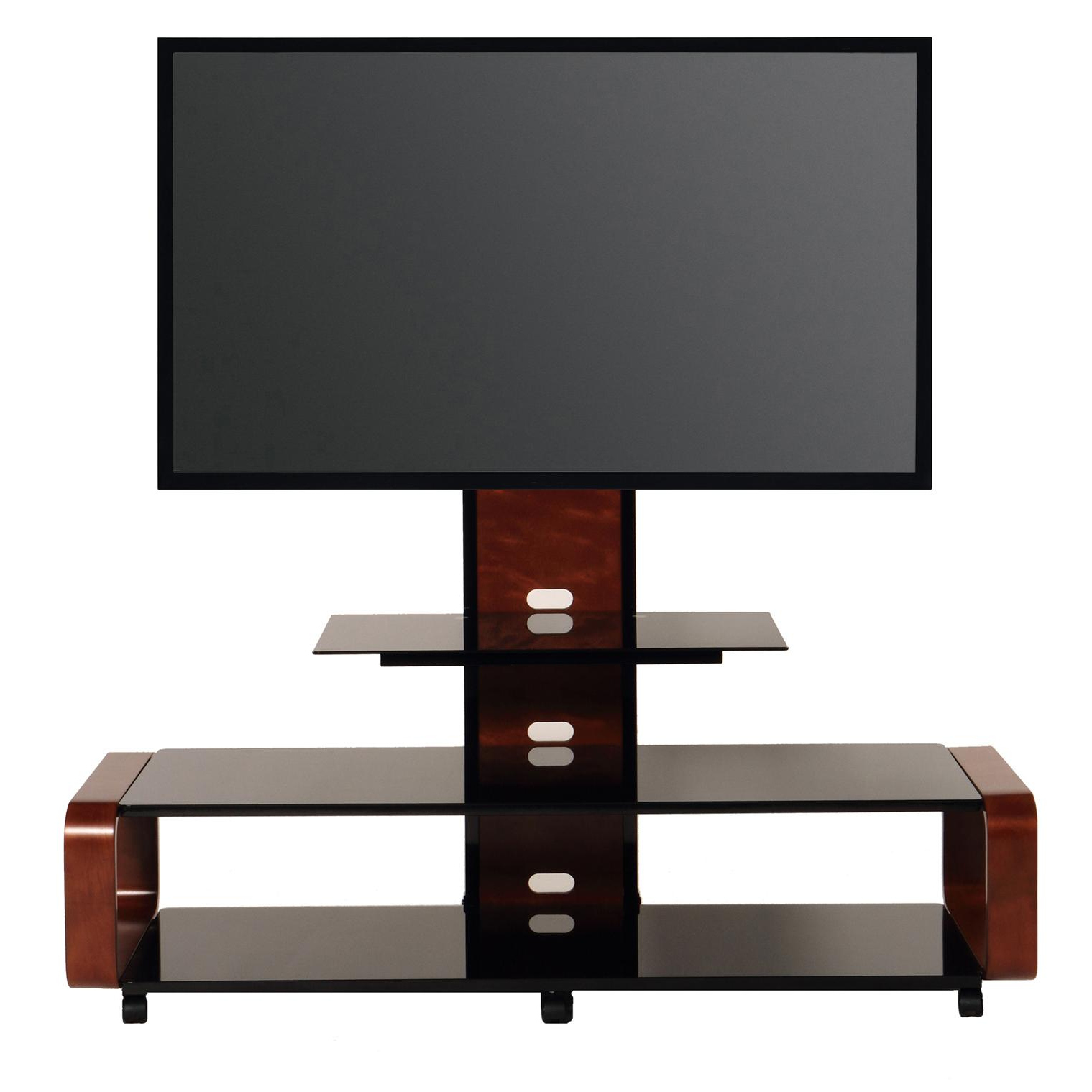 Td685db Tv Stand Mount Wheels Shelves 90 Inch   Transdeco Regarding Modern Black Floor Glass Tv Stands For Tvs Up To 70 Inch (View 13 of 20)