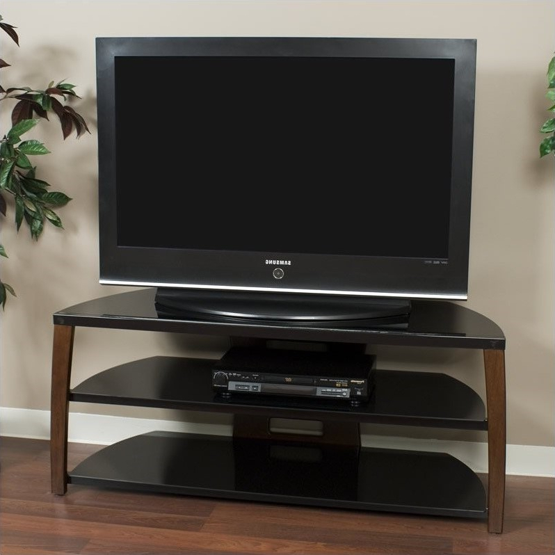 """Tech Craft Monaco Series 50"""" Wide Tv Stand In Walnut And Inside Wide Tv Stands Entertainment Center Columbia Walnut/black (View 10 of 20)"""
