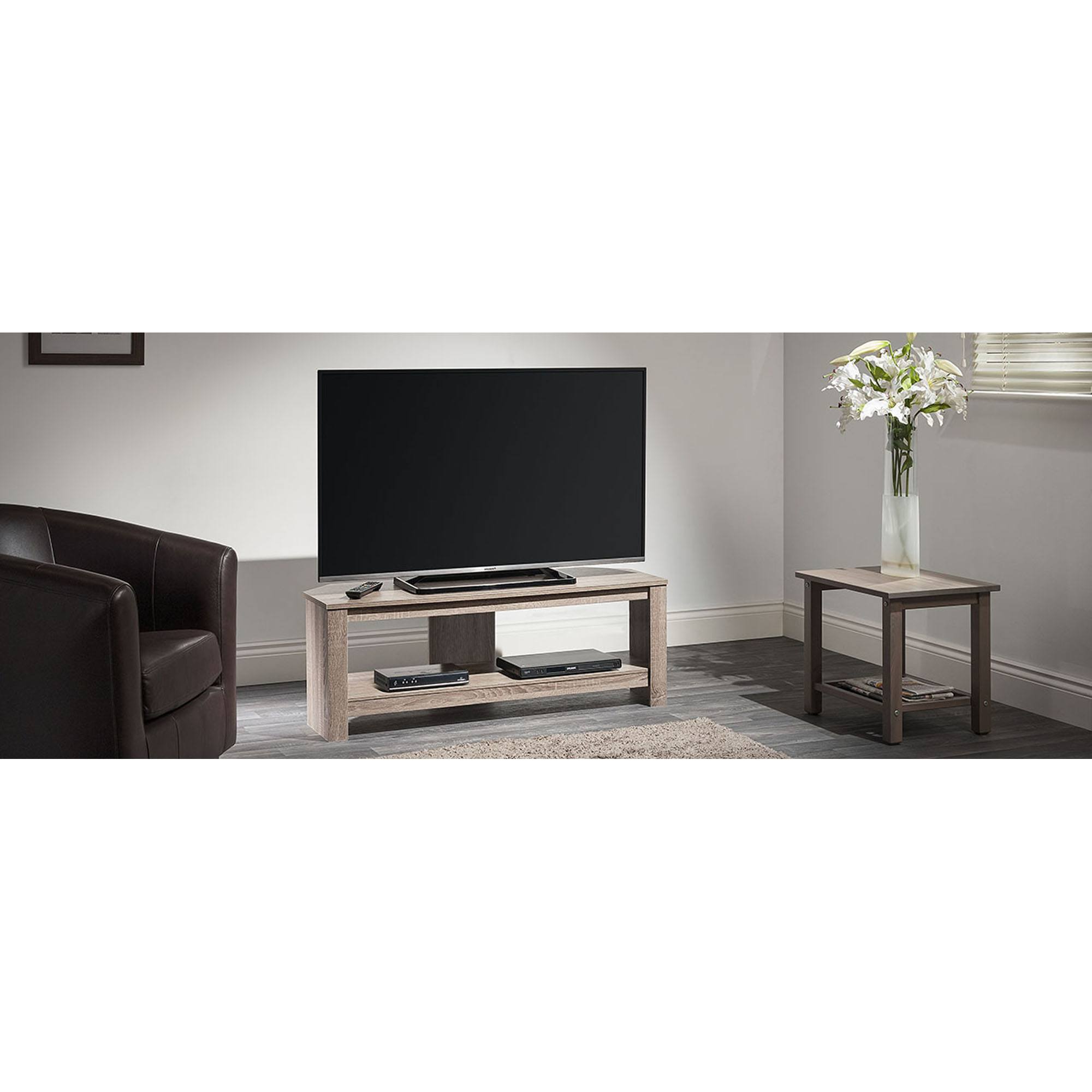 """Tech Link Calibre Corner Tv Stand For Up To 55""""   Hughes Within Spellman Tv Stands For Tvs Up To 55"""" (View 12 of 20)"""