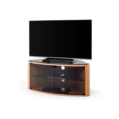 Techlink Bench Corner+ 55 Inch Tv Stand Light Oak With Pertaining To 57'' Led Tv Stands Cabinet (View 9 of 20)