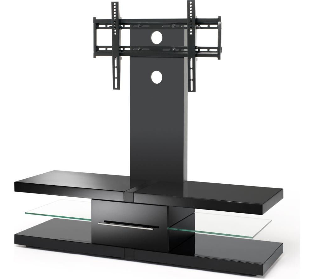 Techlink Echo Ec130tvb Tv Stand With Bracket Deals   Pc World Throughout Modern Black Tv Stands On Wheels With Metal Cart (View 12 of 20)