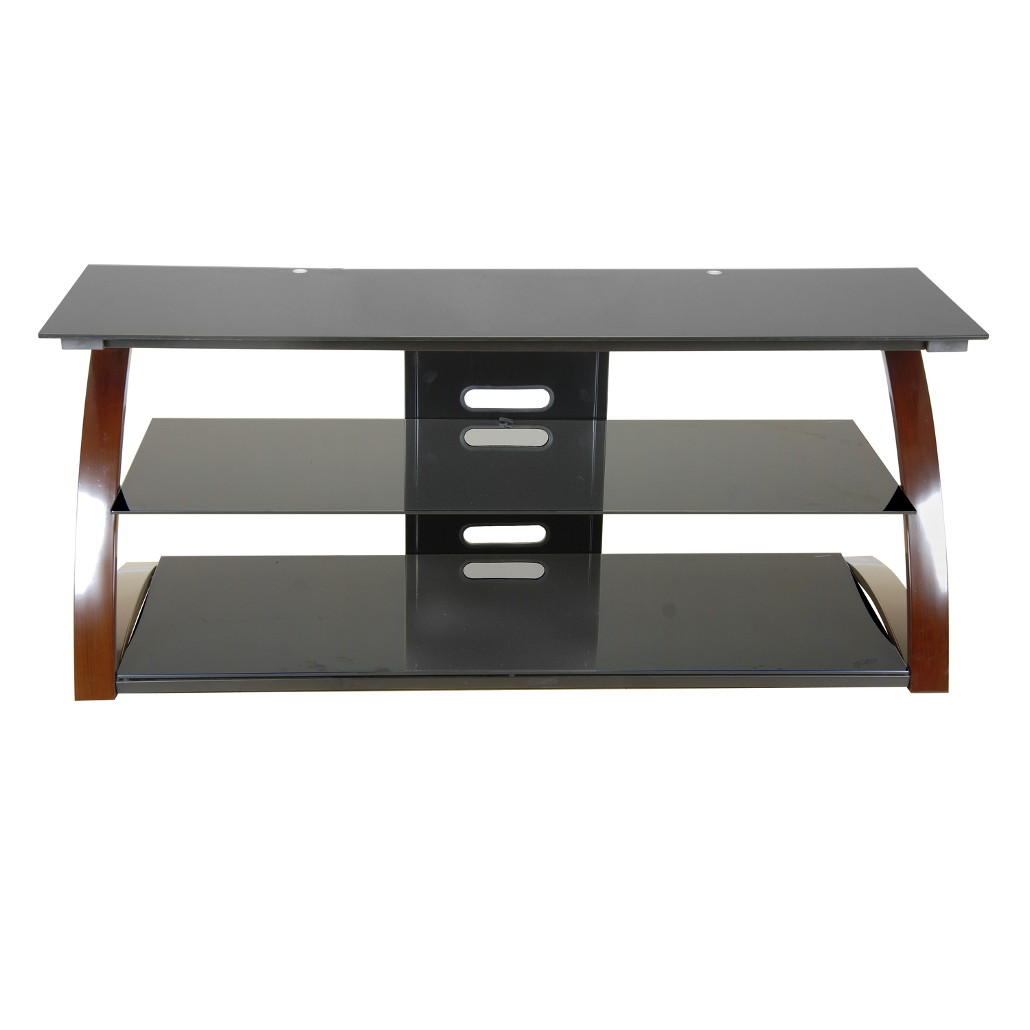 """Techni Mobili Techni Mobili Black Glass Tv Stand For Lcd Throughout Glass Shelves Tv Stands For Tvs Up To 60"""" (View 11 of 20)"""