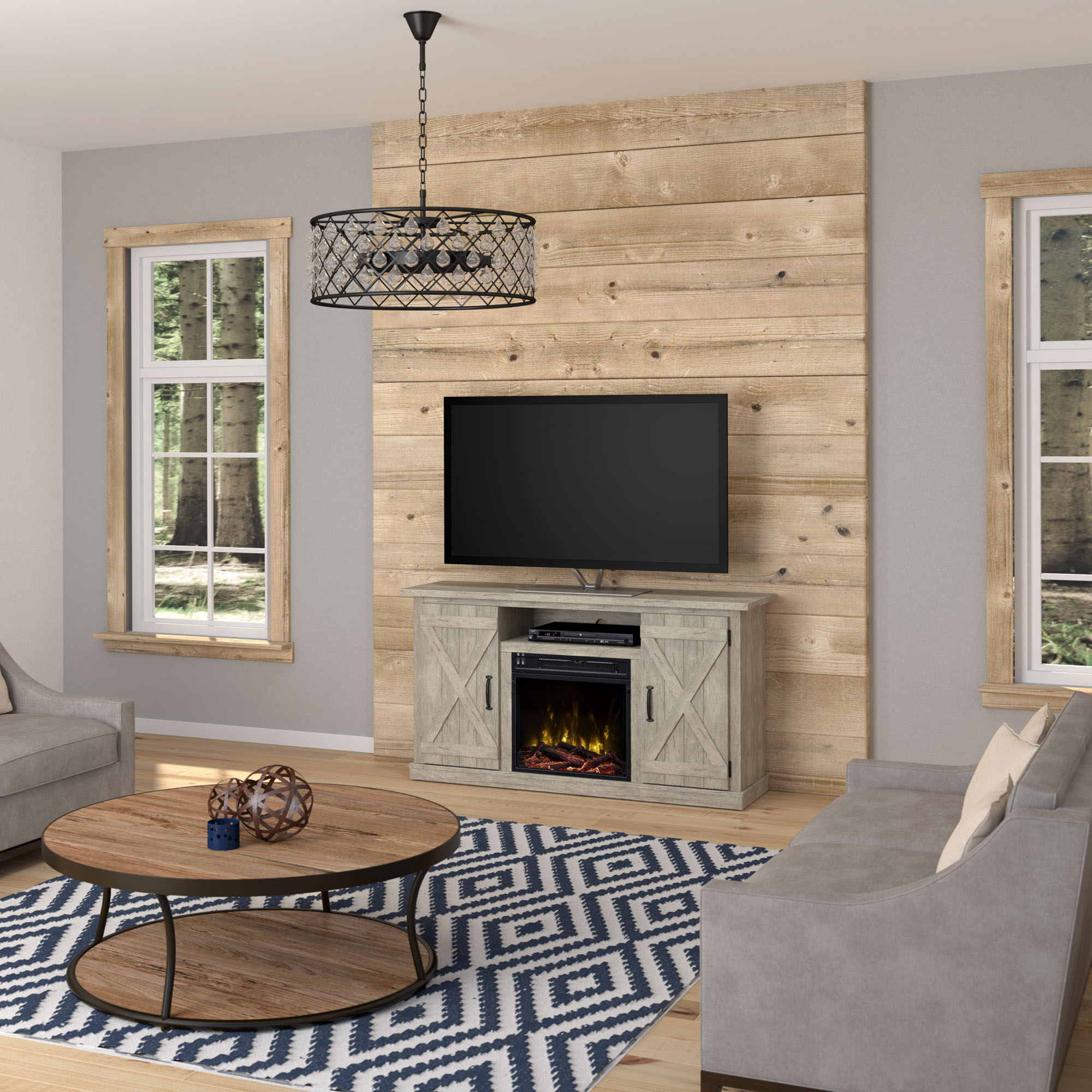 """Terryville Fireplace Tv Stand For Tvs Up To 55"""" – Walmart With Twila Tv Stands For Tvs Up To 55"""" (View 15 of 20)"""