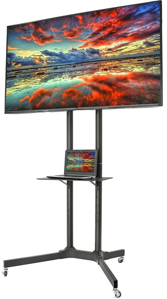 The Best Tall Tv Stands For Modern Or Smart Television With Regard To Modern Black Tv Stands On Wheels With Metal Cart (View 15 of 20)