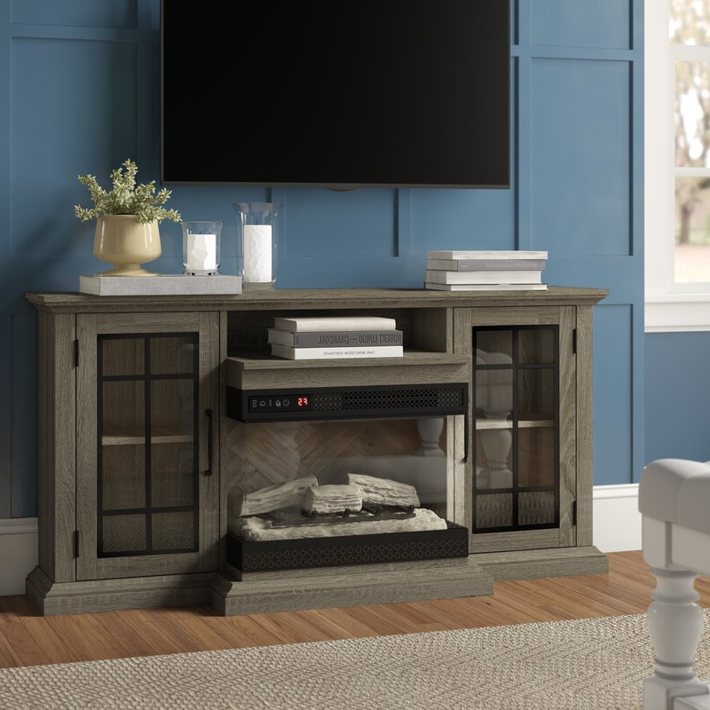 """Three Posts™ Aubriella Tv Stand For Tvs Up To 65"""" With Regarding Rickard Tv Stands For Tvs Up To 65"""" With Fireplace Included (View 9 of 20)"""