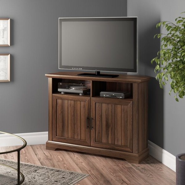 """Three Posts™ Tomball Corner Tv Stand For Tvs Up To 48 Within Lionel Corner Tv Stands For Tvs Up To 48"""" (View 3 of 20)"""