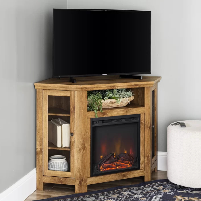 """Tieton Corner Tv Stand For Tvs Up To 48 Inches With Within Lionel Corner Tv Stands For Tvs Up To 48"""" (View 17 of 20)"""