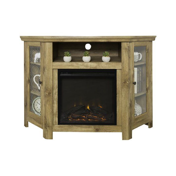 """Tieton Corner Tv Stand For Tvs Up To 50"""" With Electric Inside Lionel Corner Tv Stands For Tvs Up To 48"""" (View 14 of 20)"""
