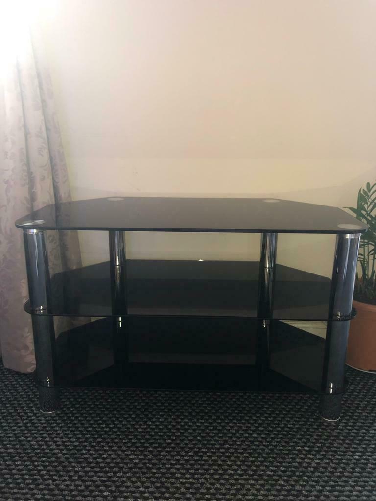 Tinted Glass Tv Stand   In South East London, London   Gumtree Pertaining To Bromley Oak Corner Tv Stands (View 16 of 20)