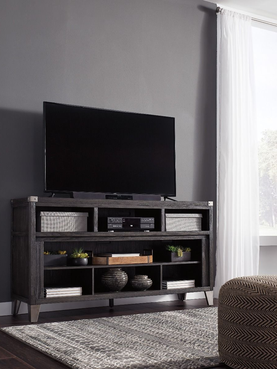 """Todoe Gray Tv Stand With Optional Fireplace Insert With Mission Corner Tv Stands For Tvs Up To 38"""" (View 13 of 20)"""