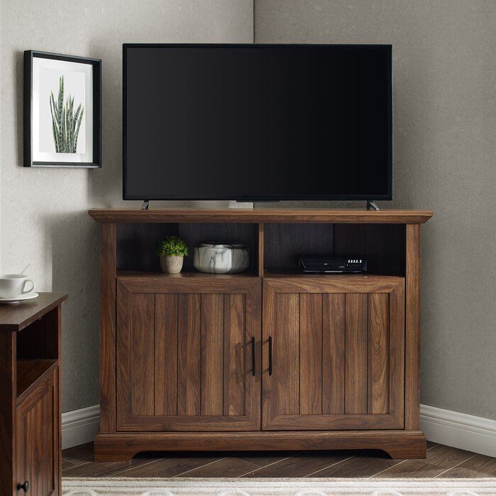 """Tomball Corner Tv Stand For Tvs Up To 48"""" In 2020 