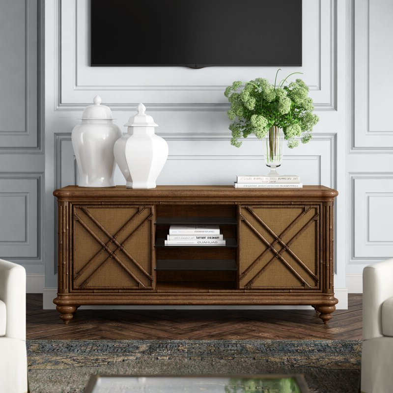 """Tommy Bahama Home Bali Hai Solid Wood Tv Stand For Tvs Up Intended For Chrissy Tv Stands For Tvs Up To 75"""" (View 14 of 20)"""