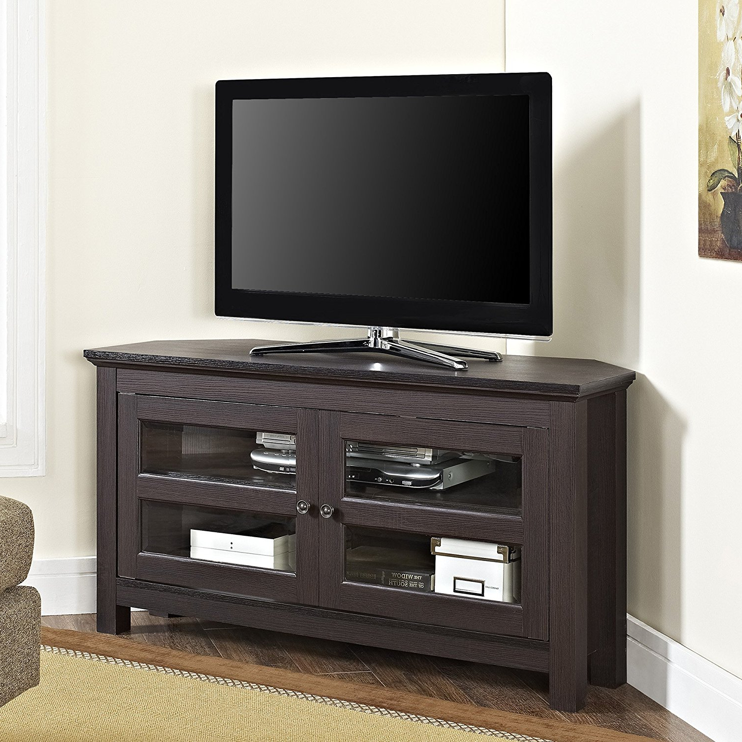 Top 10 Best Modern Tall Corner Tv Stands In 2021 Reviews With Priya Corner Tv Stands (View 4 of 20)