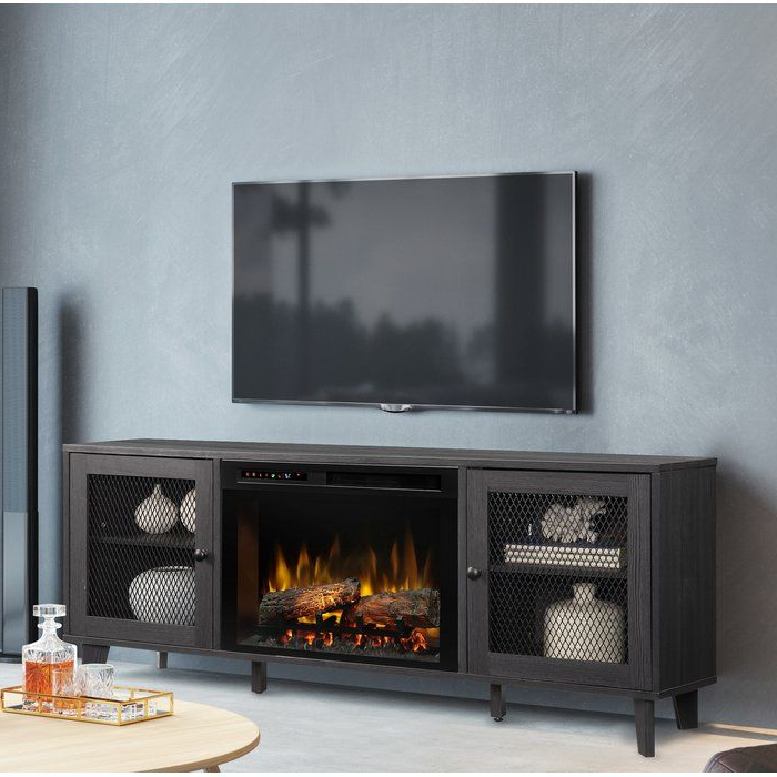 """Towe Tv Stand For Tvs Up To 75"""" With Fireplace In 2020 Throughout Chrissy Tv Stands For Tvs Up To 75"""" (View 17 of 20)"""