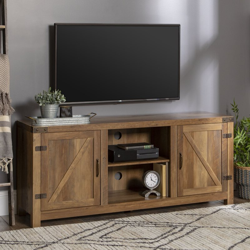 """Trent Austin Design Adalberto Tv Stand For Tvs Up To 65 Within Glass Shelves Tv Stands For Tvs Up To 65"""" (View 13 of 20)"""