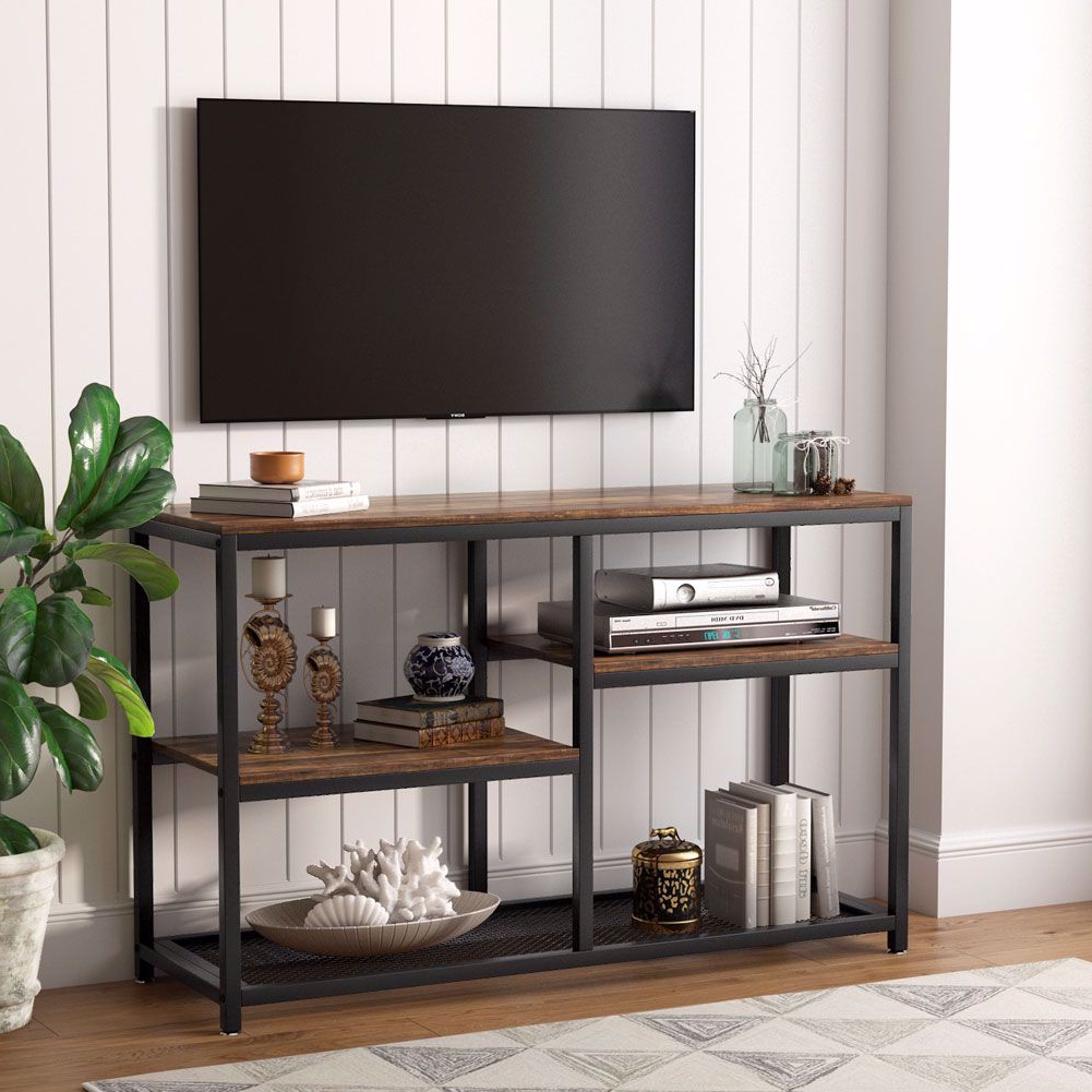 Tribesigns Tv Stand, Vintage Industrial Media Stand With In Tv Stands With Drawer And Cabinets (View 4 of 20)