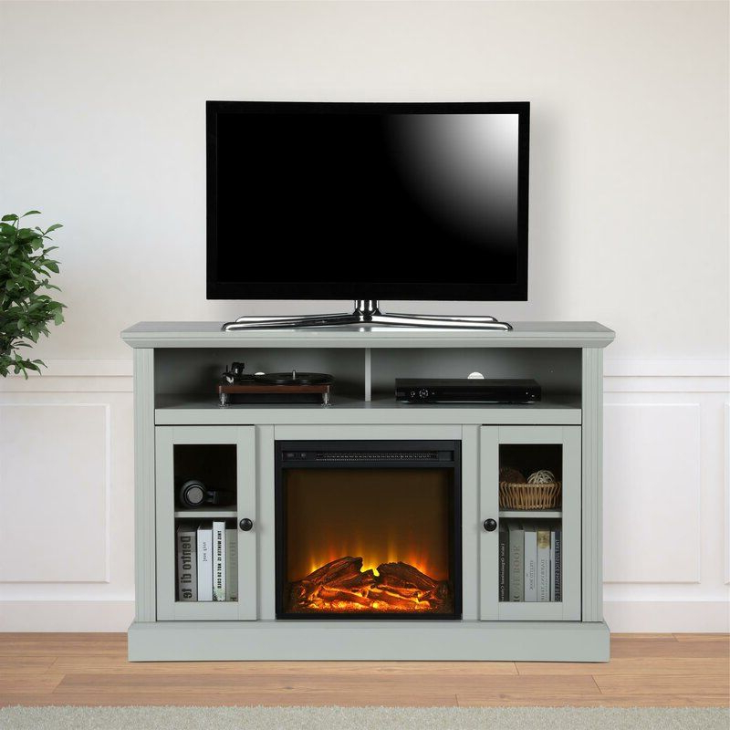 """Tucci Tv Stand For Tvs Up To 50"""" With Electric Fireplace With Regard To Neilsen Tv Stands For Tvs Up To 50"""" With Fireplace Included (View 4 of 20)"""