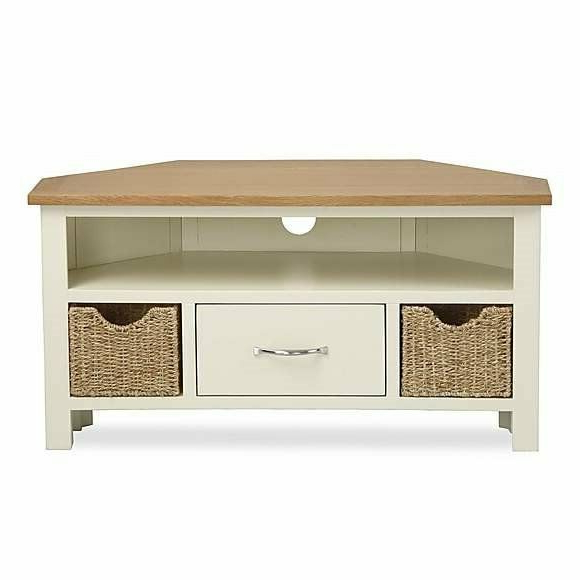 Tv Cabinet/stand (dunelm Sidmouth Design) | In Beccles Throughout Sidmouth Oak Corner Tv Stands (View 4 of 20)