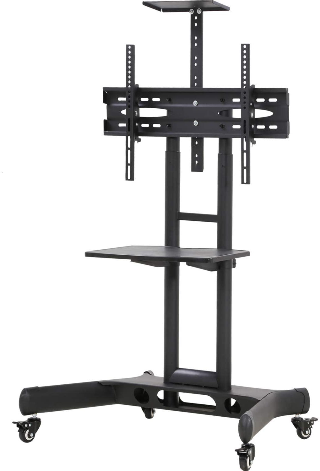 Tv Cart Stand Rolling Cart Lcd Portable Tv Cart With Within Fitueyes Rolling Tv Cart For Living Room (View 11 of 20)