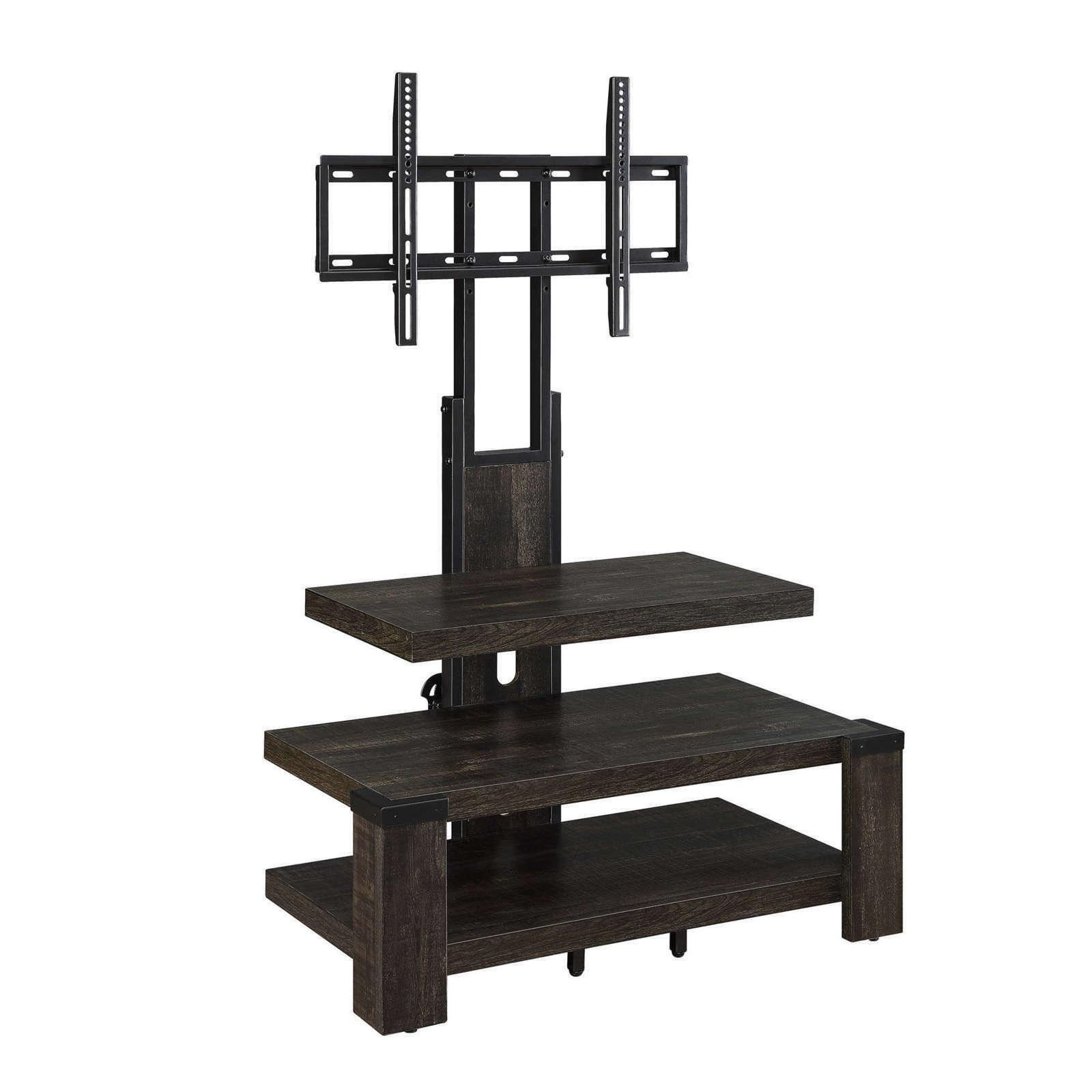 """Tv Stand 65 Inch Flat Screen Entertainment Medi Throughout Whalen Furniture Black Tv Stands For 65"""" Flat Panel Tvs With Tempered Glass Shelves (View 5 of 20)"""