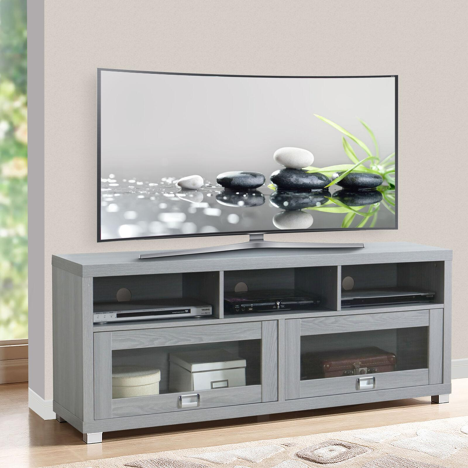 """Tv Stand 75 Inch Flat Screen Entertainment Medi Within Chrissy Tv Stands For Tvs Up To 75"""" (View 8 of 20)"""