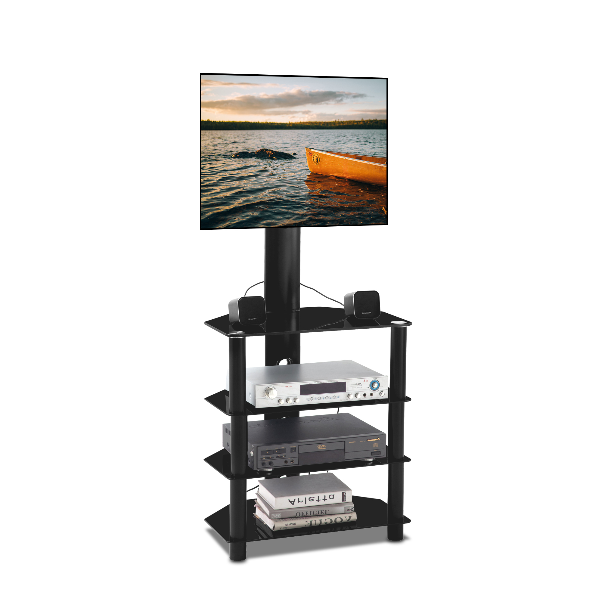 Tv Stand Base, Swivel Universal Tv Stand, Height And Angle Within Swivel Floor Tv Stands Height Adjustable (View 9 of 20)