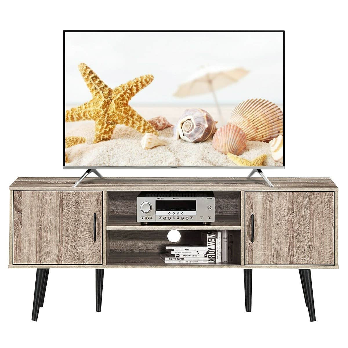 Tv Stand Cabinet Shelf Storage – Molleos Intended For Horizontal Or Vertical Storage Shelf Tv Stands (View 10 of 20)