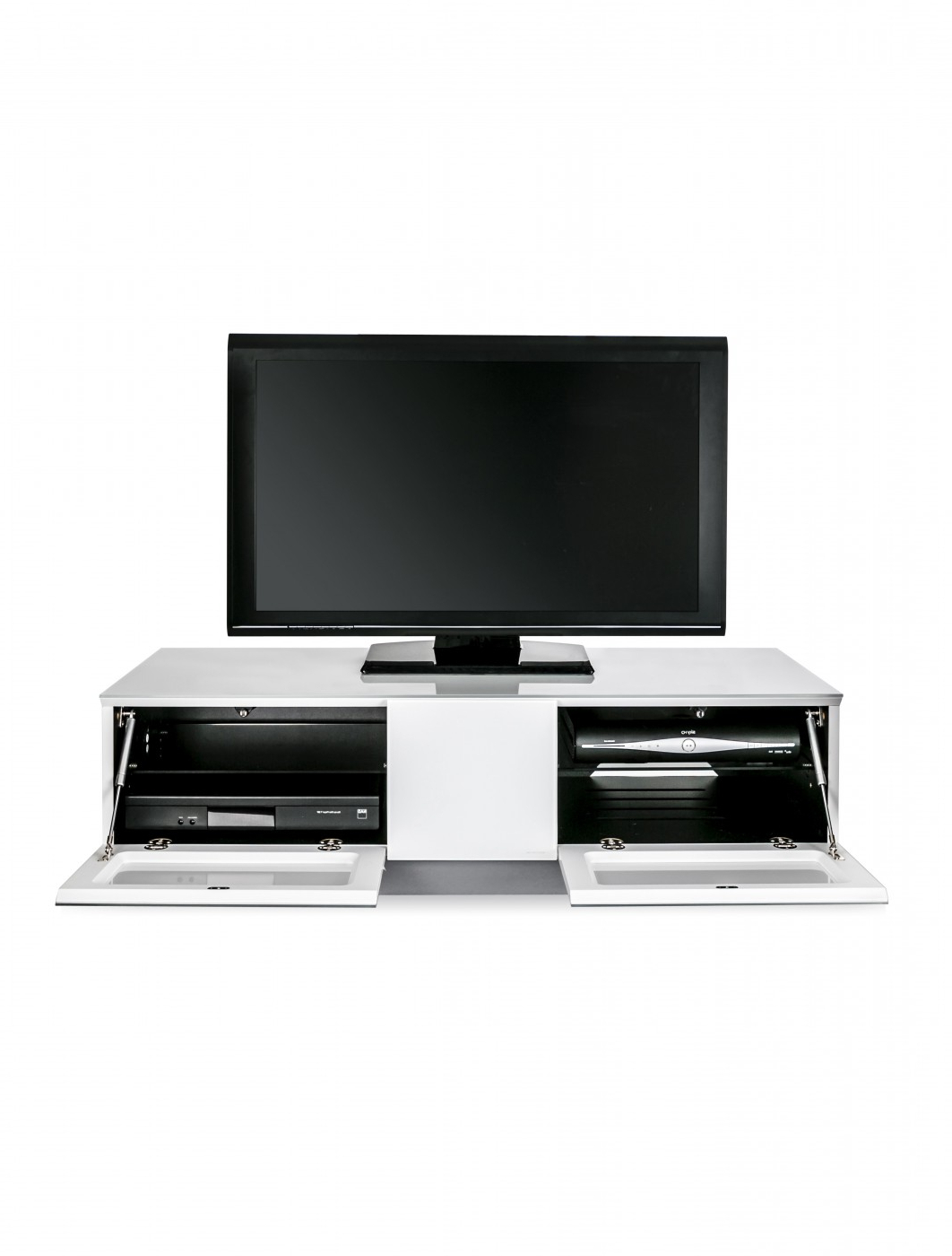 Tv Stand Element Modular Emtmod1250 Whi Tv Cabinet Intended For 57'' Tv Stands With Open Glass Shelves Gray & Black Finsh (View 11 of 20)