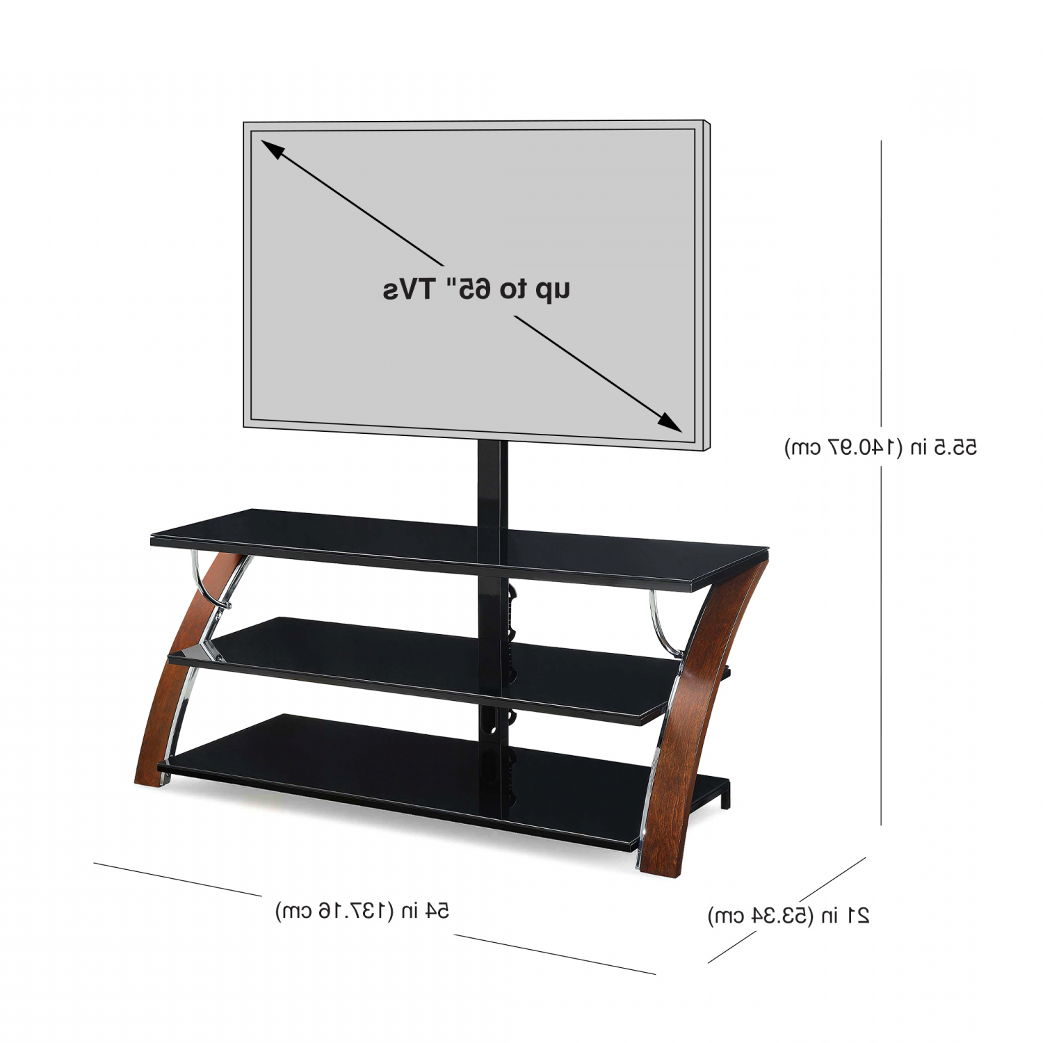 """Tv Stand Flat Panel For Tvs Up To 65"""" Screen Entertainment Regarding Whalen Payton 3 In 1 Flat Panel Tv Stands With Multiple Finishes (View 14 of 20)"""