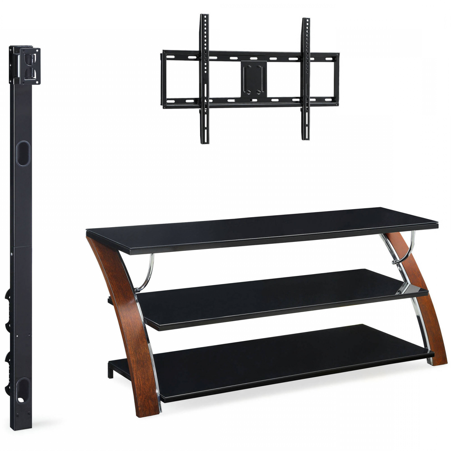 """Tv Stand Flat Panel For Tvs Up To 65"""" Screen Entertainment Throughout Whalen Payton 3 In 1 Flat Panel Tv Stands With Multiple Finishes (View 8 of 20)"""