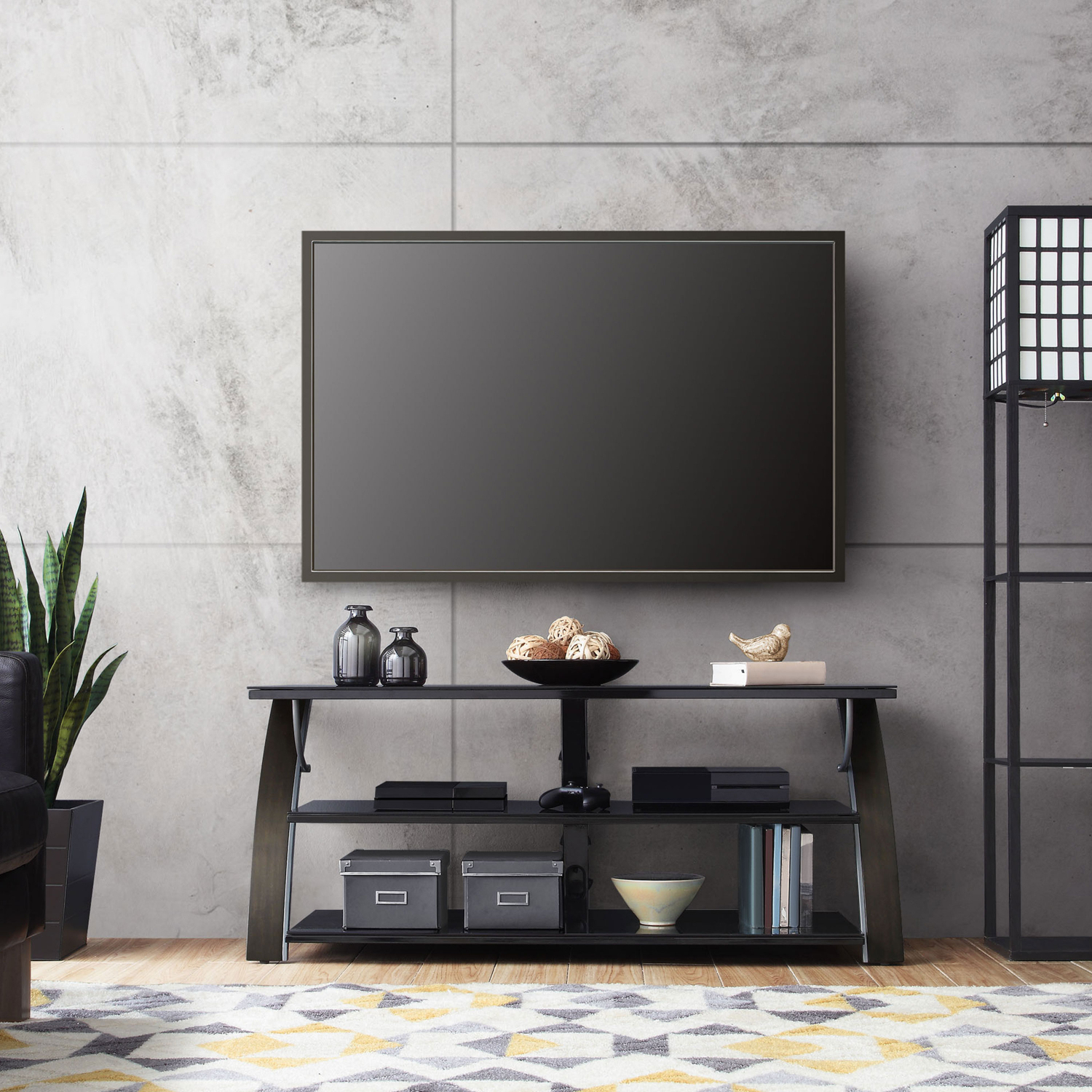 """Tv Stand Flat Panel For Tvs Up To 65"""" Screen Entertainment Within Whalen Payton 3 In 1 Flat Panel Tv Stands With Multiple Finishes (View 13 of 20)"""