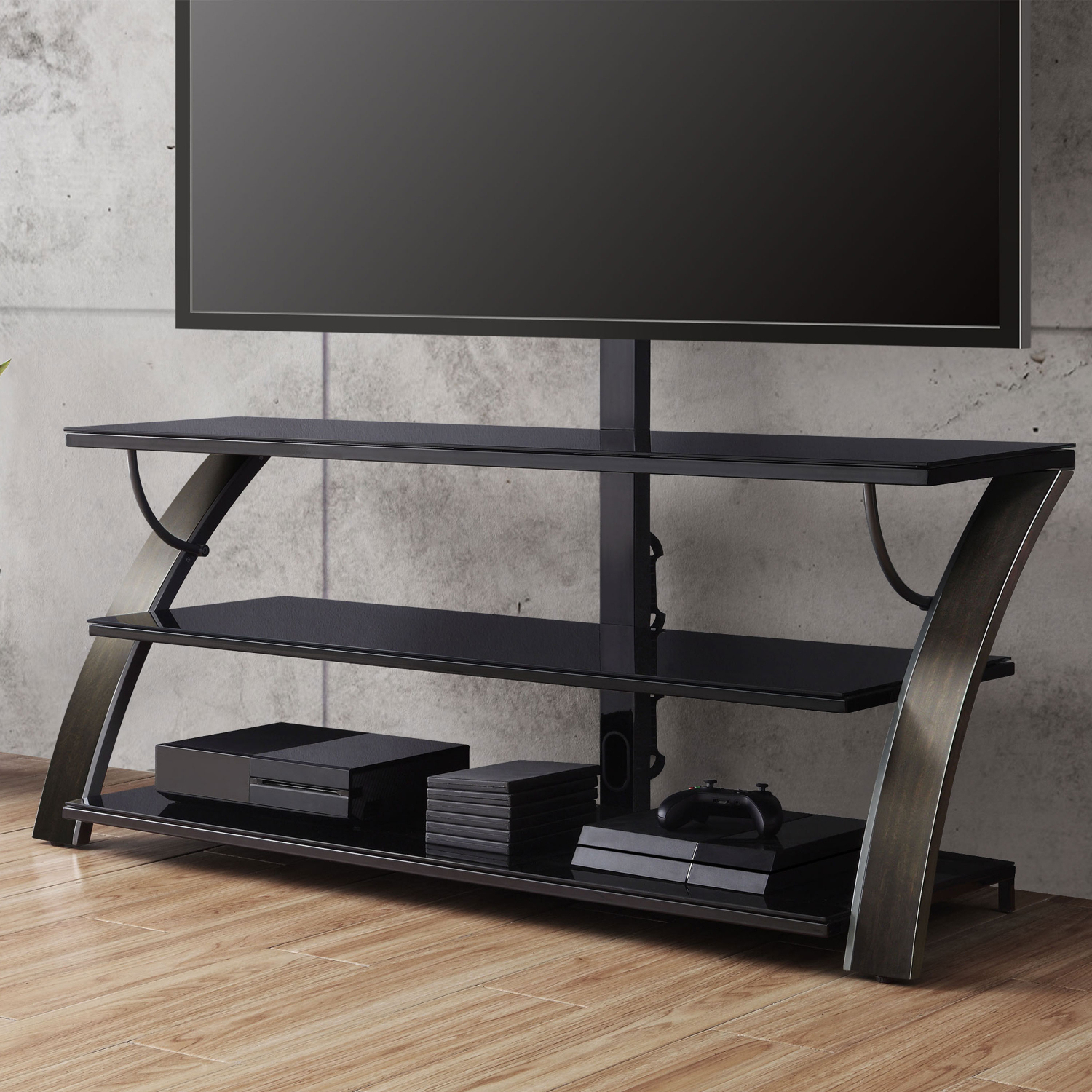 """Tv Stand Flat Panel For Tvs Up To 65"""" Screen Entertainment Within Whalen Payton 3 In 1 Flat Panel Tv Stands With Multiple Finishes (View 9 of 20)"""