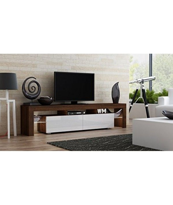"""Tv Stand Milano 200 Walnut Line Modern Led Tv Cabinet In Milano 200 Wall Mounted Floating Led 79"""" Tv Stands (View 16 of 20)"""